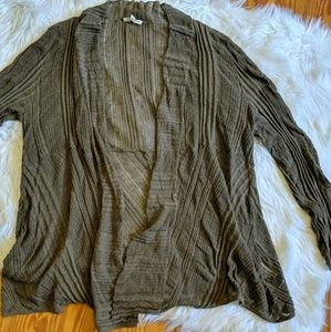 Eileen Fisher Olive fly away cardigan sweater